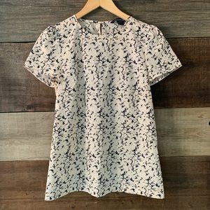 French Connection Marble Short Sleeve Blouse